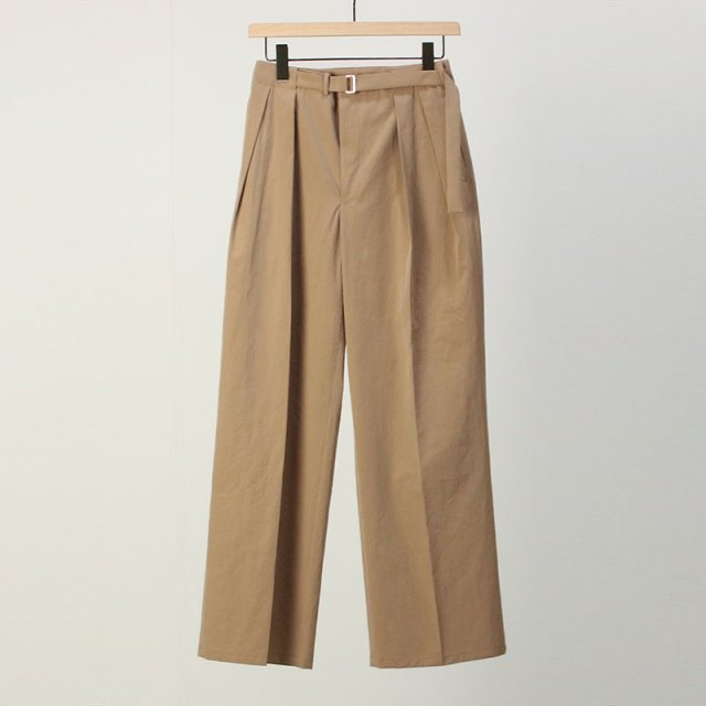 【2021 S/S】【AURALEE オーラリーレディース】WASHED FINX RIPSTOP CHAMBRAY BELTET PANTS BEIGE CHAMBRAY
