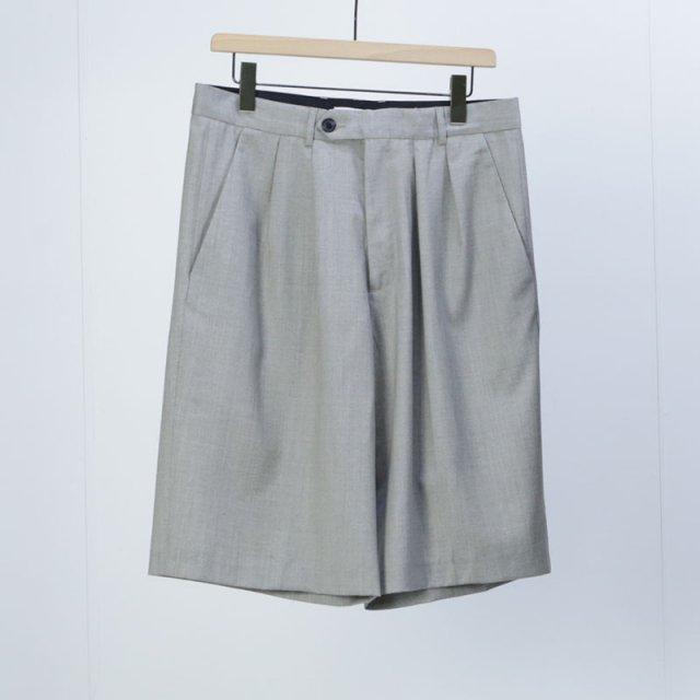【2021 S/S】【lownn ローン】Wide Short Greige (grey/beige)