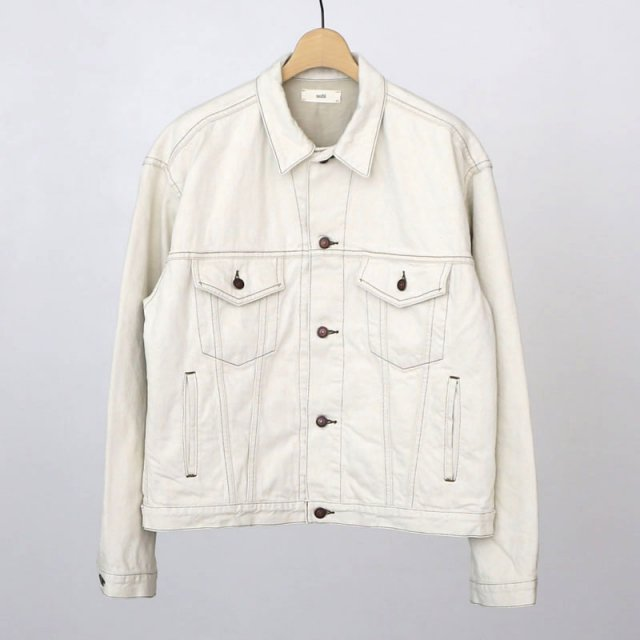【2021 S/S】【unfil / アンフィル】12oz cotton denim jacket ecru beige