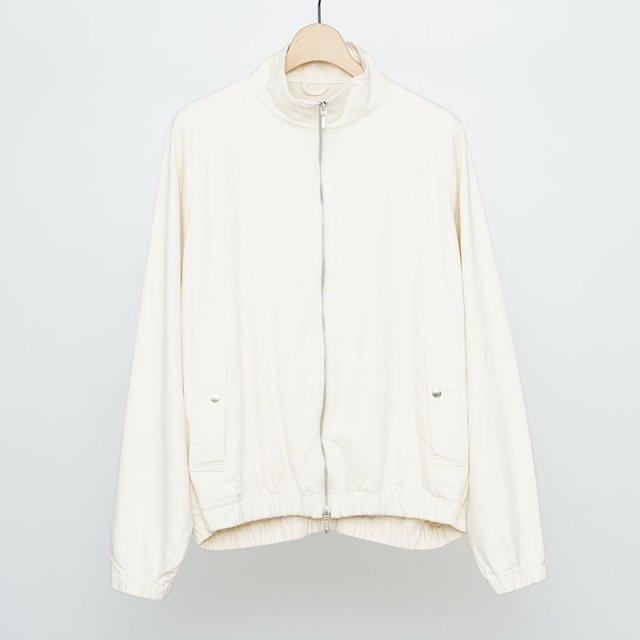 【2021 S/S】【unfil / アンフィル】raw silk denim full zip jacket natural
