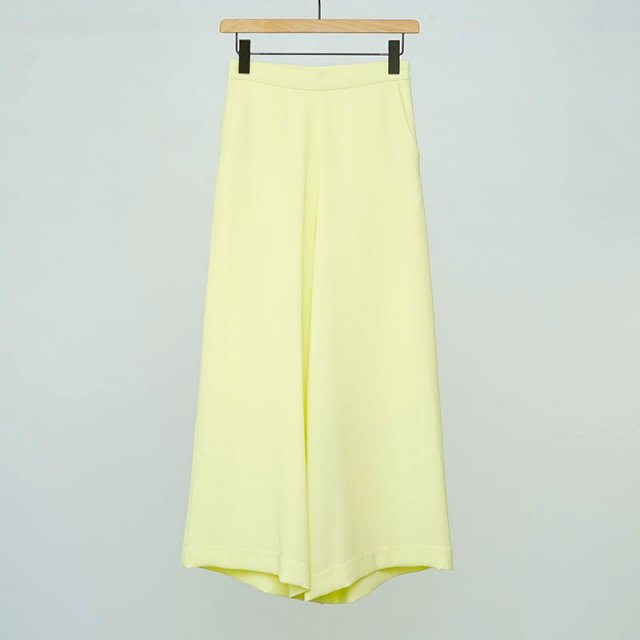 【2021 S/S】【PHEENY / フィーニー】Dobby wide flared pants LIME