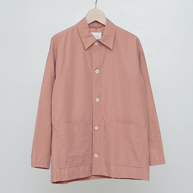 【2021 S/S】【PHEENY / フィーニー】Nylon cotton grosgrain coverall jacket PINK