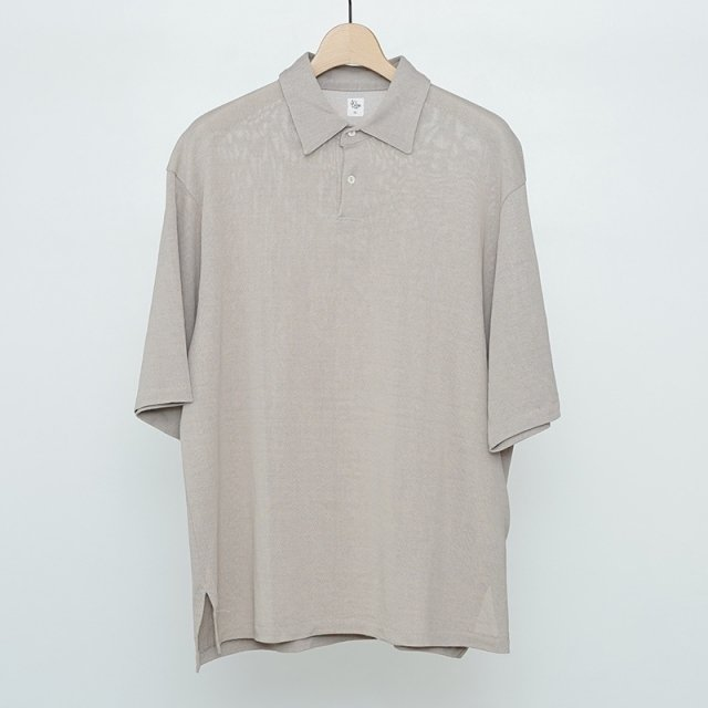 【2021 S/S】【KAPTAIN SUNSHINE キャプテンサンシャイン】Washi Polo Shirt LIGHT GREY