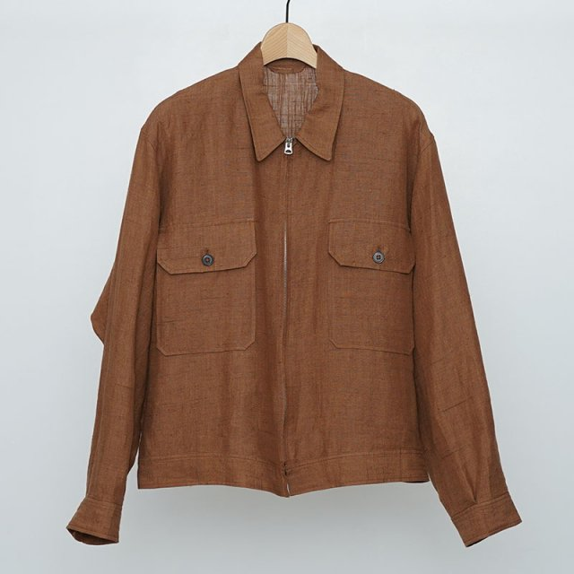 【2021 S/S】【KAPTAIN SUNSHINE キャプテンサンシャイン】2P Zip Blouson MOCHA BROWN
