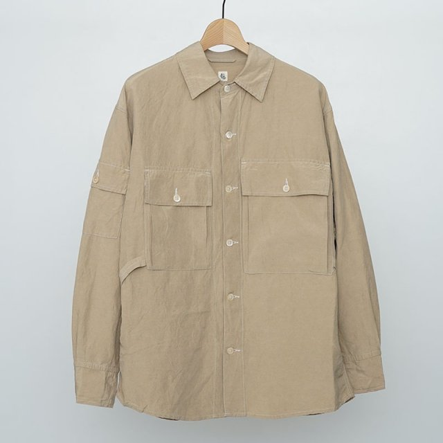 【2021 S/S】【KAPTAIN SUNSHINE キャプテンサンシャイン】Field Shirt Jacket SAFARI BEIGE
