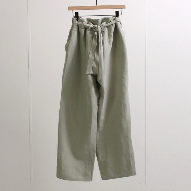 【20%OFF】【2021 S/S】【cale カル】SILK LINEN BELTED PANTS SKY GREEN