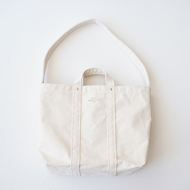 【20/80 トウェンティーエイティー】CANVAS #6  2WAY TOOL TOTE BAG WHITE
