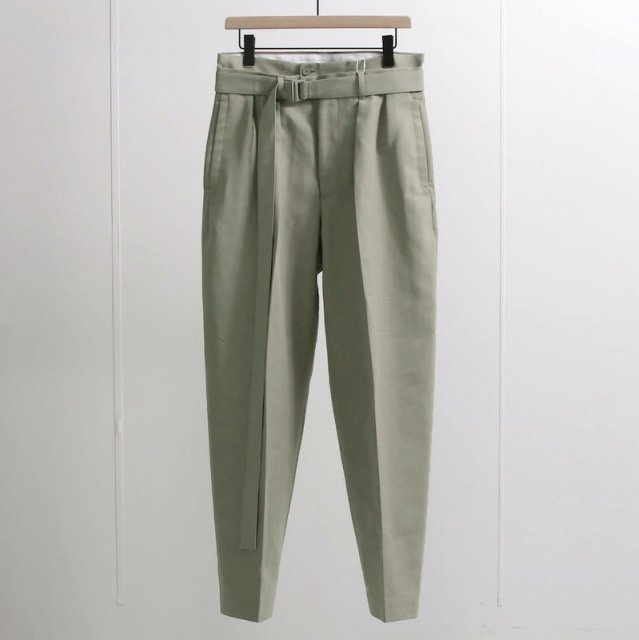 【2021 S/S】【SEEALL シーオール】BELTED BUGGY PANTS MASTIC