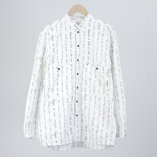 【OUTIL ウティ】CHEMISIER UNIEUX WHITE