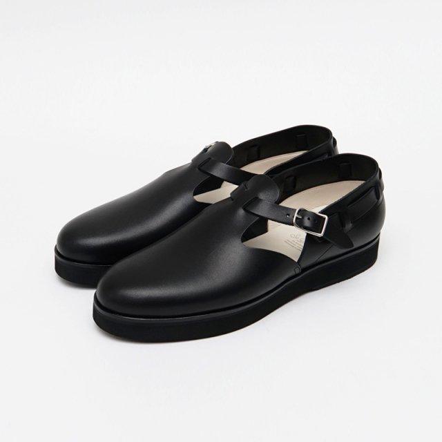 【foot the coacher フット ザ コーチャー】T-STRAP SHOES BLACK