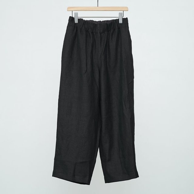 【2021 S/S】【Gorsch the seamster ゴーシュザシームスター】Easy French Linen Wide Trausers BLACK