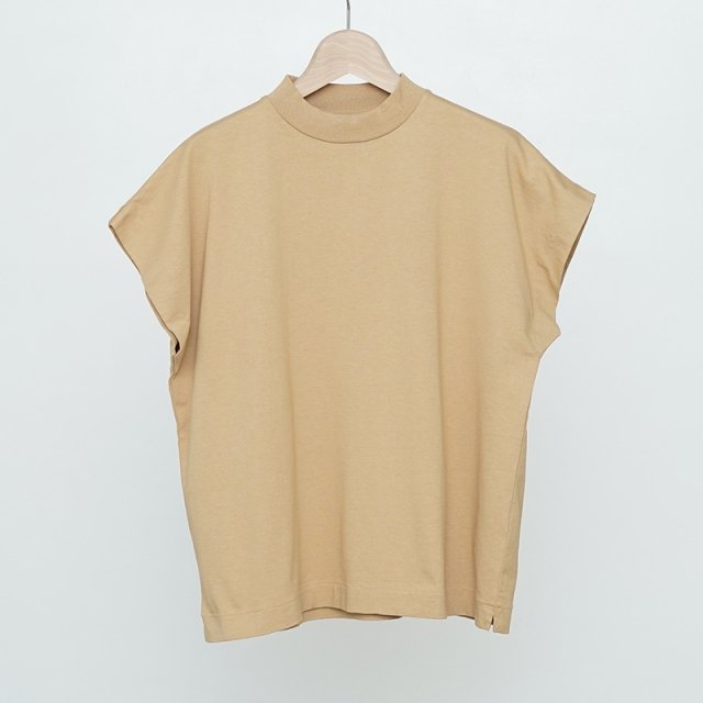 【2021 S/S】【Phlannel フランネル】Cotton Open-end Yarn French-sleeve T-shirt Beige