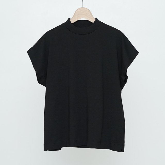 【2021 S/S】【Phlannel フランネル】Cotton Open-end Yarn French-sleeve T-shirt Black