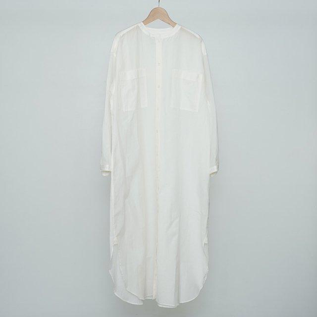 【2021 S/S】【Phlannel フランネル】Cotton Silk Khadi Shirt Dress White