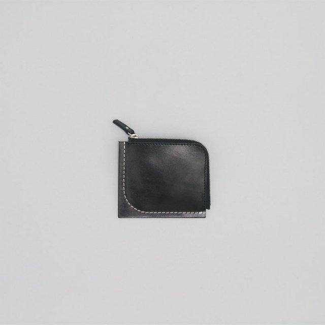 _Fot stitch wallet BLACK