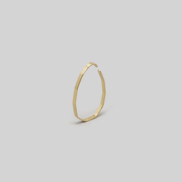 _Fot plate earring  L _ angular  (ear cuff)