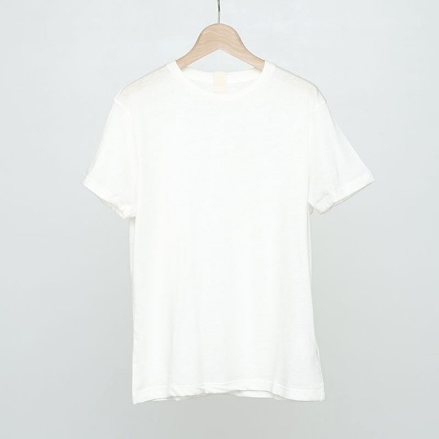 【2021 S/S】【Uhr / ウーア】Recycled Cotton Basic Tee Off White