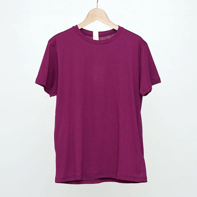 【2021 S/S】【Uhr / ウーア】Recycled Cotton Basic Tee Berry
