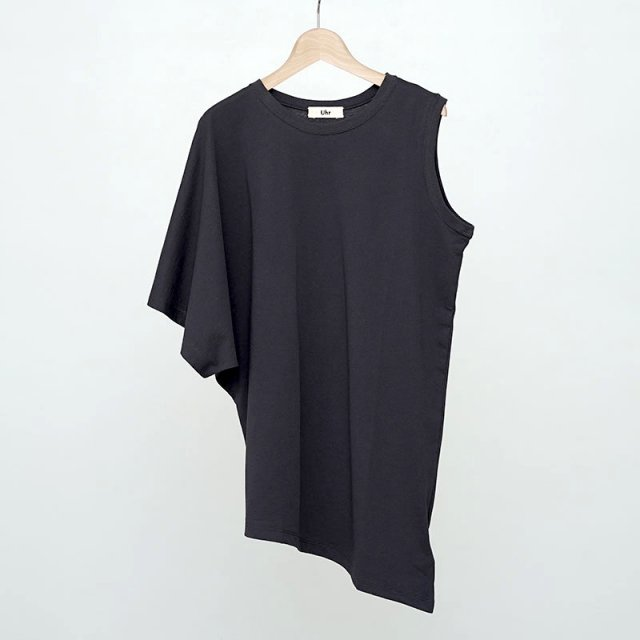 【2021 S/S】【Uhr / ウーア】Asymmetry Tee Charcoal Gray