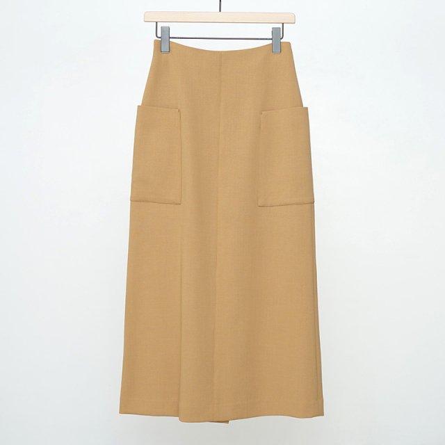 【ラスト1点】【2021 A/W】【AURALEE オーラリーレディース】TENSE WOOL DOUBLE CLOTH SKIRT BEIGE