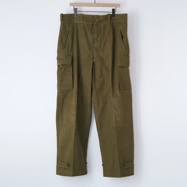 【VINTAGE / USED WEAR】French Army 50s M-47 Trousers / OLIVE / 37