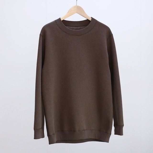 【2021 A/W】【cale カル】MERINO WOOL PULLOVER BROWN