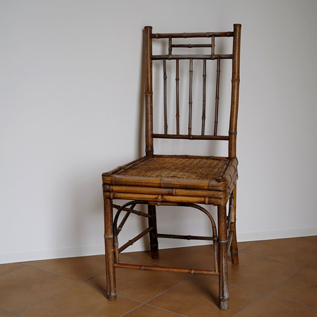 Old Japanese Bamboo Chair / 19th Century
