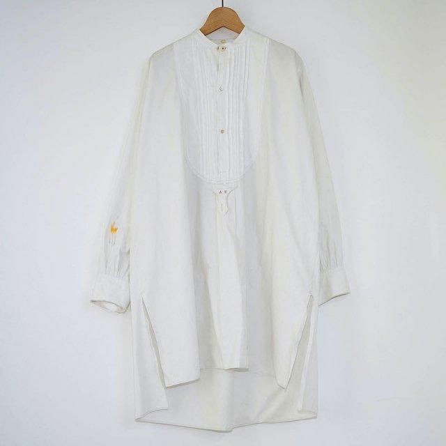【VINTAGE / USED WEAR】Antique Grandpa Shirt / WHITE