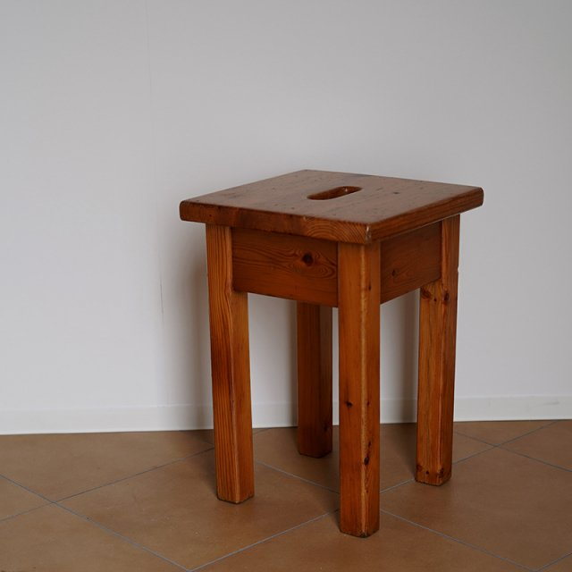French Pine Wood Stool / c.1950s〜60s / FRANCE