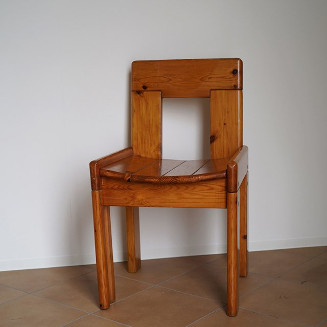French Pine Wood Chair / c.1950s〜60s / FRANCE