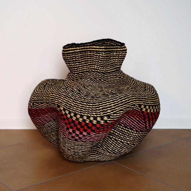 African HandWeaving basket 2/ Wave Vase
