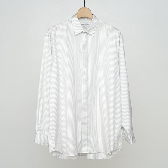 【2021 A/W】【当店別注商品】INDIVIDUALIZED SHIRTS FLY FRONT SHIRTS STRIPE