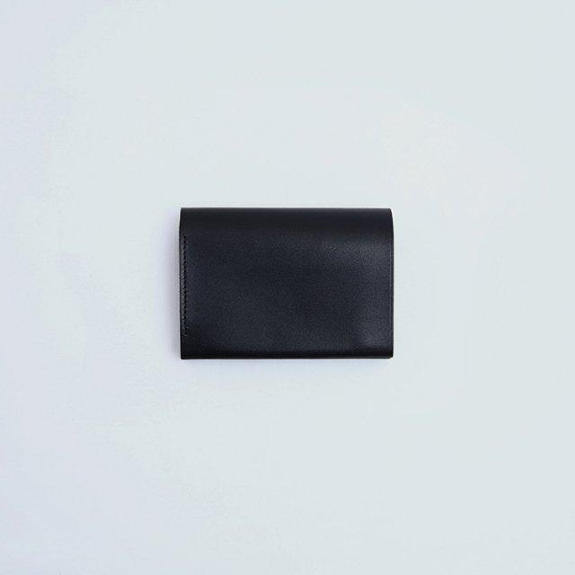 【POSTALCO】PRESSED COTTON CARD & COIN WALLET BLACK