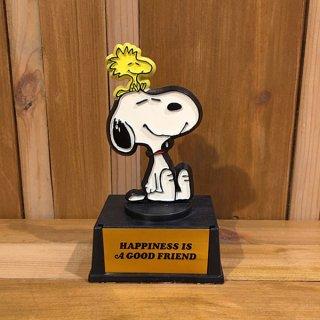 """スヌーピー  トロフィー """"HAPPINES IS A GOOD FRIEND"""""""