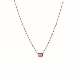 ピンクトパーズ  ネックレス with ダイヤモンドの商品画像