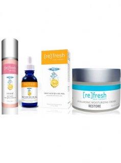 リフレッシュスキンセラピー ピーリング4点キット Refresh Skin Therapy The Ultimate Fruit Acid Peel Kit