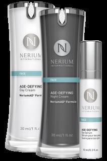 ネリウム エイジディファイングADデイクリーム&ナイトクリーム アイセラム3点セット Night Cream, Day Cream & Eye Serum (1 of Each) ネオラ Neora
