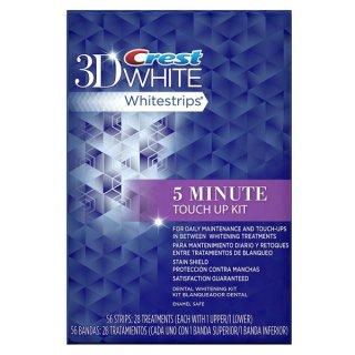 ☆≪販売終了≫クレスト 3D ホワイトストリップ ファイブミニッツ Crest 3D White crest 5 minute touch up kit 28 ホワイトニングシート 5分で真っ白な歯