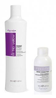 Fanola No Yellow Shampoo 350 ml & Fiber Fix n2 Bond Connector Sealing Cream 100 ml ノーイエローシャンプー&クリーム