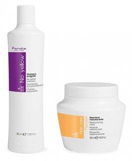 Fanola No Yellow Shampoo & Nutri Care Restructuring Mask ノーイエローシャンプー&トリートメント