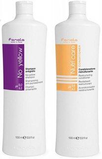 Fanola No Yellow Shampoo 1000ml & Fanola Nutri Care Conditioner 1000ml ノーイエローシャンプー&コンディショナー