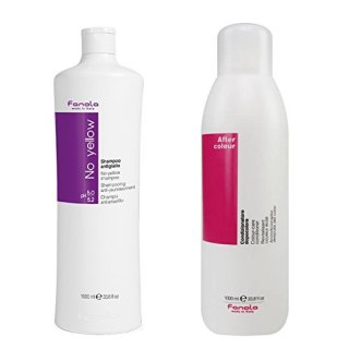 Fanola No Yellow Shampoo 1000ml& After Color Conditioner Set 1000mlノーイエローシャンプー&コンディショナー