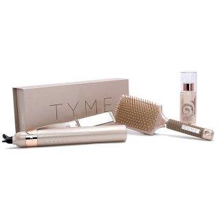 TYME Dream Team Kit チタンプレート ストレート&カール2ウェイヘアアイロン ブラシ トリートメントセット