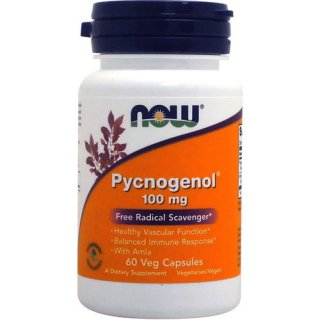 Pycnogenol ピクノジェノール100mg(フランス海岸松樹皮エキス)60粒 [071-03267/G4A03]
