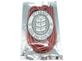 GETABACO ROPE LACE RED/WHITE<BR>ゲタバコ ロープレース レッド/ホワイト 日本製