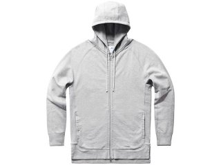 ASICS x REIGNING CHAMP FULL ZIP HOODIE HEATHER GREY
