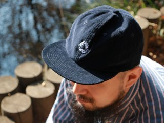CHAIN REACTION CAPSULE COLLECTION CORDUROY SNAPBACK NAVY/WHITE