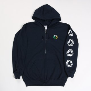 CHAIN REACTION CAPSULE COLLECTION ZIP HOODIE NAVY