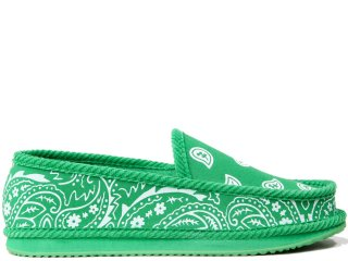 TROOPER AMERICA HOUSE SHOES PAISLEY CANVAS GREEN/WHITE<BR>トゥルーパー アメリカ ハウスシューズ キャンバス ペイズリー グリーン ホワイト