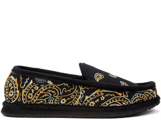 TROOPER AMERICA HOUSE SHOES PAISLEY CANVAS EMBROIDERY TIGER<BR>トゥルーパー アメリカ ハウスシューズ ペイズリー